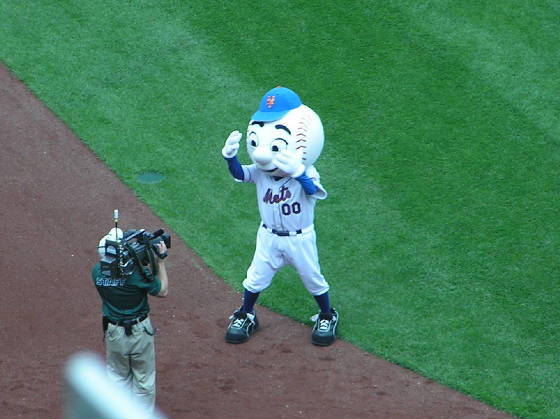 Mr Met - The NY Mets mascot - Citi Field