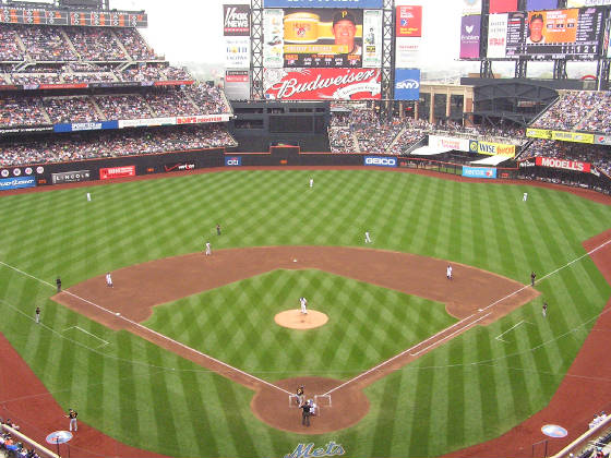 A view of the field - Citi Field, Flushing