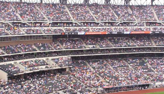 The stands on the first base side - Citi Field